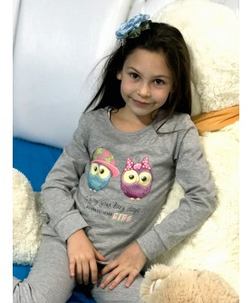 KIDS HOME WEAR SET OWLS