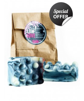 LOAF LOVE - Soap with activated charcoal 2бр