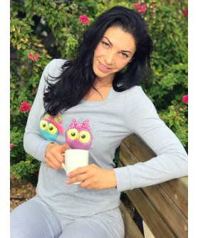 "LADIES HOME WEAR SET ""OWLS"""